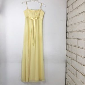 Jessica McClintock Womens 4 Yellow Gown Dress